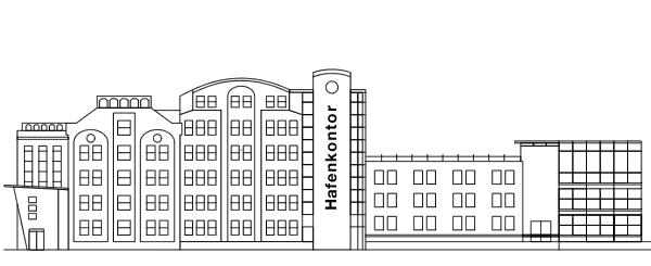 Rheinhafen Karlsruhe - Hafenkontor neuer Standort von PHOS Design
