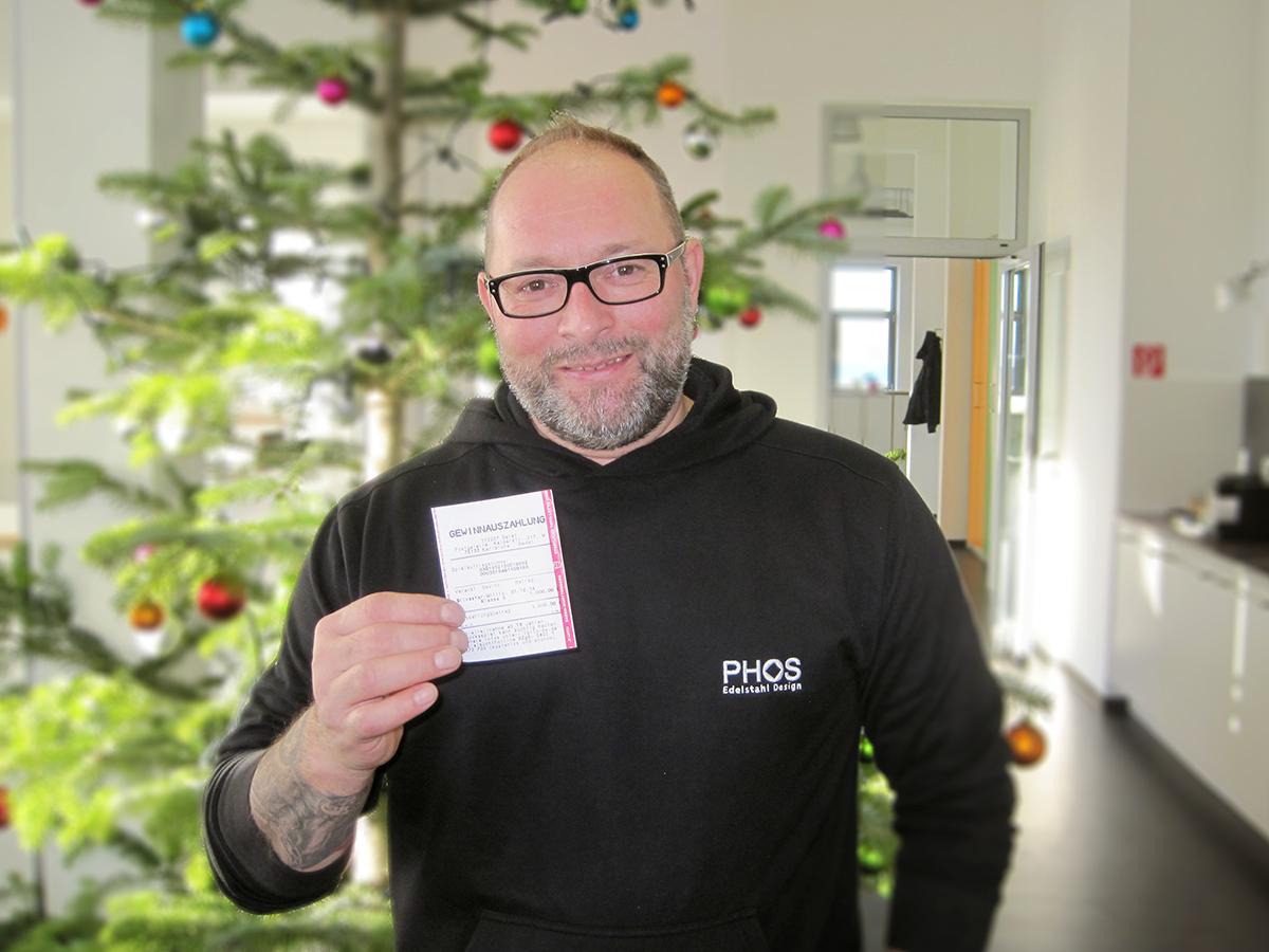 Glücklicher Gewinner: Hubert P.