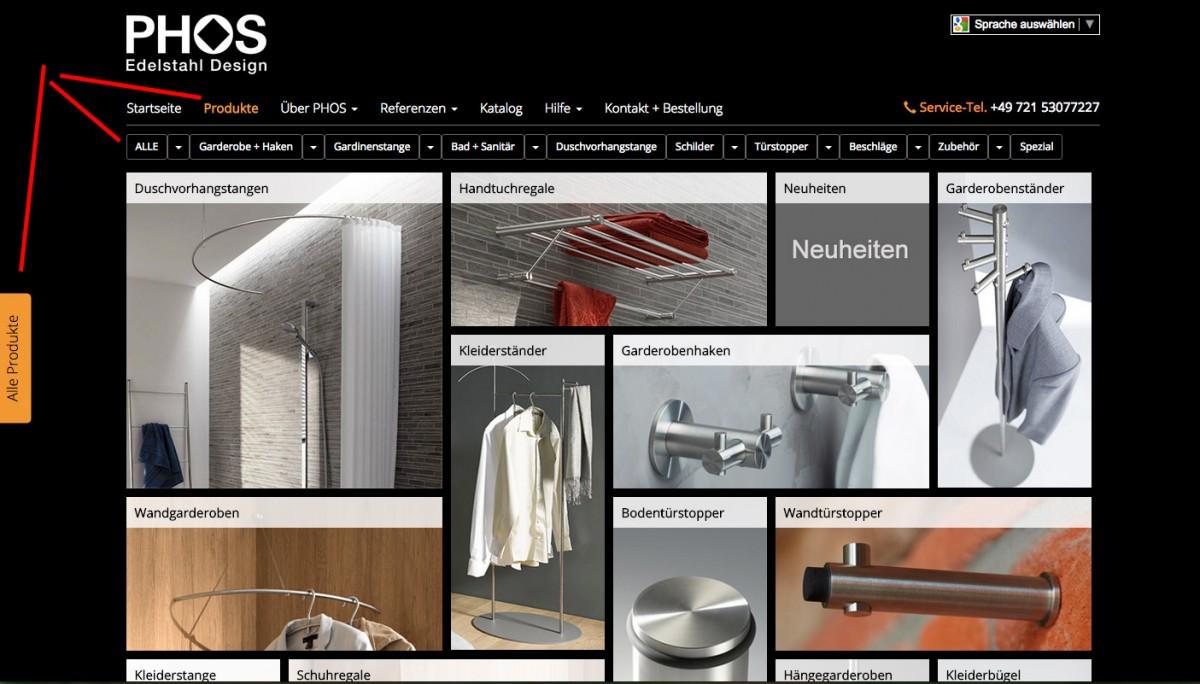 Neue Produktübersicht auf unserer Webseite