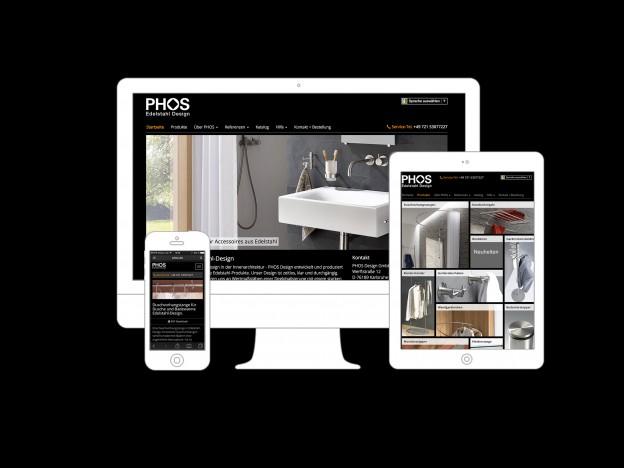 Neue responsive Website von PHOS Design