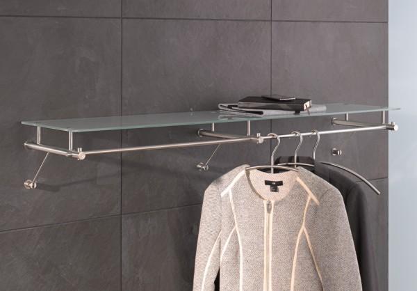 Wandgarderobe mit Glasablage G3 1200G von PHOS Design