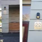 Foto: evaplan Architektur+Stadtplanung aus Karlsruhe - Hausnummerschild nach Vorgabe