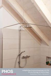 Theo S., Mechernich - individuelle Duschvorhangstange an Dachschräge