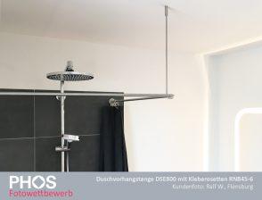 Ralf W., Flensburg - Duschvorhangstange DSE800 mit Klebetellern RNB45-6