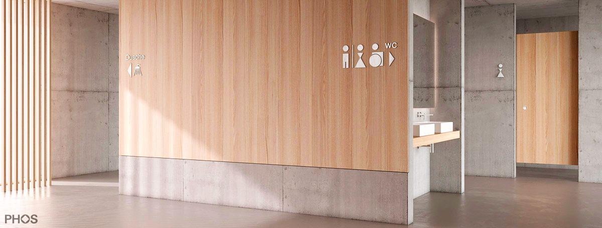 PHOS Design - WC Piktogramme aus Edelstahl