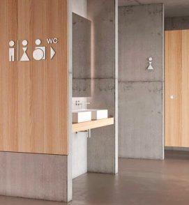 PHOS Design - WC Wegweiser