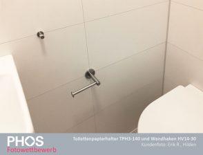 Erik R., Hilden - Bad-Accessoires TPH3-140 und Wandhaken HV14-30