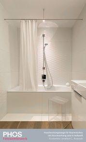 Jonathan C., Roveredo (CH) - Duschvorhangstange für Duschnischen und Duschvorhang LOLA weiß