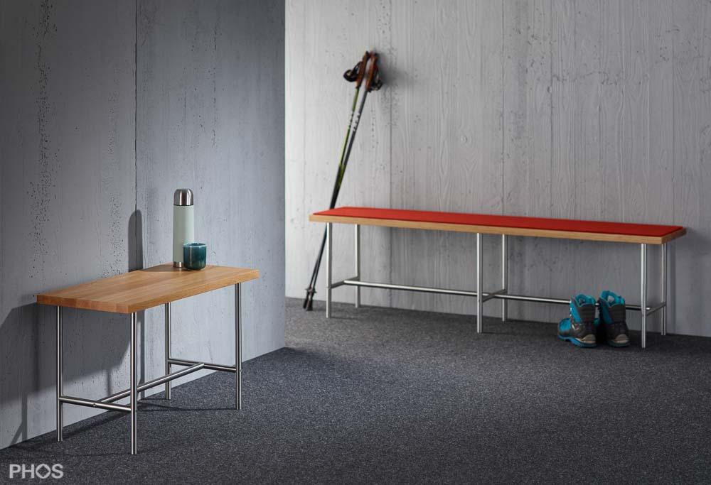 PHOS Design - Sitzbänke mit Filzauflage