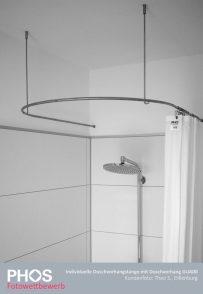 Theo S., Dillenburg - Duschvorhangstange U-Form mit Duschvorhang